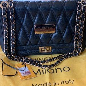 Authentic Valentino Milano Alice leather Handbag